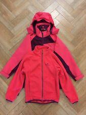 Kids Hi-Gear 3-in-1 waterproof/rain jacket & removable fleece - age 7-8