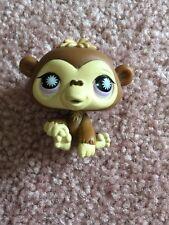 Littlest Pet Shop LPS Chimpanzee #1493 Brown With Purple Eyes Hasbro