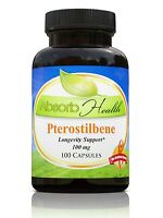 Pterostilbene 100mg 100 Capsules 4x More Powerful than Resveratrol, Pure