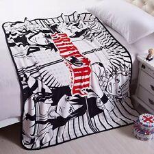 "Japan Anime Fairy Tail Soft Warm Coral Fleece Soft Plush Throw Blanket 55""X39"""