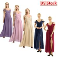 Woman Chiffon Long Evening Formal Party Ball Gown Prom Bridesmaid Cocktail Dress