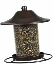 Panorama Bird Feeder,Tray style feeding port and circular perch lets birds feed