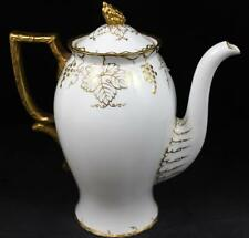 Royal Crown Derby VINE GOLD Coffee Pot Bone China A775 GREAT CONDITION