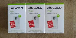 Devolo 8733 WLAN Repeater+ ac: WiFi-Verstärker mit Steckdose 1200 Mbit/s, 2x LAN