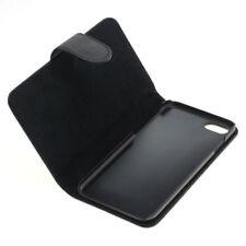 Book Case Etui Handytasche Tasche Hülle f. Apple iPhone 7 (Schwarz)