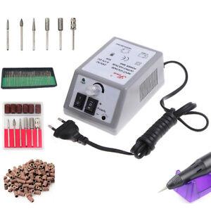 Electric Nail art File Drill Kit to File Down Fingernail Toe Nail Machine 130°C