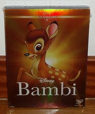 BAMBI-CLASICO DISNEY Nº 5-DVD-NUEVO-PRECINTADO-NEW-FUNDA DE CARTON-SLIPCOVER