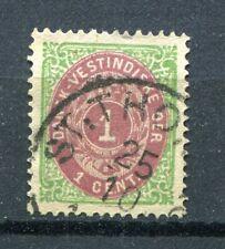 Danish West Indies Dwi: Scott 5 Vf used / Afa 5 (•) Plated (2)