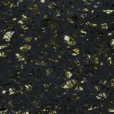 Cosmos Black & Gold Polished Floor & Wall Quartz Tiles - SAMPLE