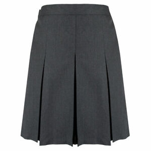 Girls Kids Chainstore Teflon School Skirt Uniform Pleated Adjustable Waist 3-16