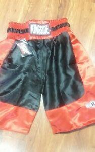 Ringside Pro Style Boxing Trunks Red Black Sz Small Kickboxing Usa Boxing