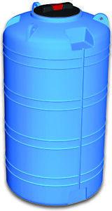 Serbatoio Polietilene verticale 2000 parallelepipedo orizzontale cisterna blu