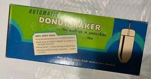 Vintage Donut Maker Press Automatic Batter Dispenser Waffle Pancake with Box NOS