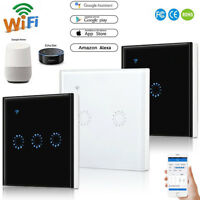 1 2 3 Gang Home Wall Light Smart WiFi RF Touch Switch Remote Control EU/UK Panel