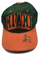 Vintage 90s Miami Hurricanes hat cap classic orange green snapback