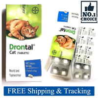 Bayer Drontal 8 Tablets For Cats And Kittens Dewormer Best Quality