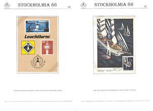 Stockholmia `86 A35 Philately Exhibition Postcard +MC Canada Ship