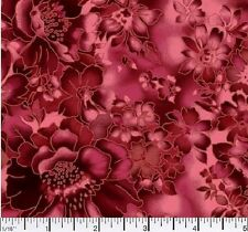 100% Cotton MDG Faded Floral - Red