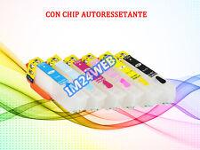KIT 6 CARTUCCE RICARICABILI PER EPSON T2431-T2436 CON CHIP AUTORESET