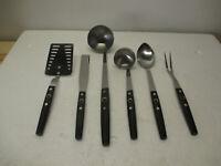 NEW NOS Vtg Set 6 FLINT ARROWHEAD Stainless Kitchen Utensils Ladle Fork Spoon