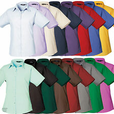 Premier PR302 Poplin Ladies Womens Short Sleeve Business Shirt Blouse Work