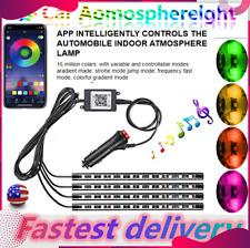 4in1 LED RGB Car Interior Atmosphere Light Strip Bar Bluetooth APP Music Control