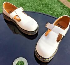 Vintage Dr Martens white T bar leather sandals UK 7  EU 41
