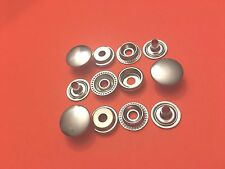"50 Set 15 mm ( 5/8"") Poppers Snap Fastener Ring Socket Nickel Plated Solid Brass"