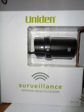 Uniden AppCam25HD High Definition Outdoor Wi-Fi Camera Black NEW AppCam 25HD