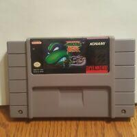 TMNT Teenage Mutant Ninja Turtles Tournament Fighters Super Nintendo SNES Tested