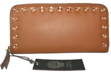 VINCE CAMUTO Luggage Leather Zip-Around Clutch Wallet NEW