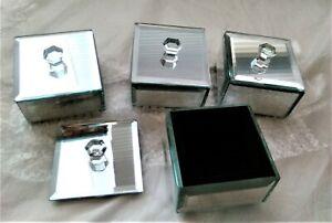 Mini Mirrored Trinketx4 Box Set - Gifts, Jewellery, Display, Wedding Supplies