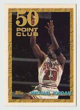 Michael Jordan TOPPS 50 Point Club Chicago Bulls Offiical Basketball Card