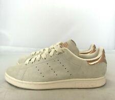 Adidas Trainers Size UK 5 EU 38 Beige Grey Stan Smith Women's Suede Sport 211398