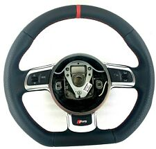 Genuine OEM Audi R8 steering wheel retrimmed, nappa leather, red stitching.   3B