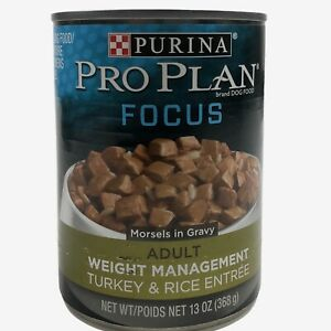 *12 Cans* Purina Pro Plan FOCUS Weight Management Turkey & Rice Food EXP 11/22