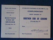 Stoke City v Manchester City - 12/11/1966 - Ticket