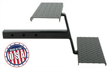 "Truck Bed Step- 2"" Receiver Hitch Stairs w/ Two steel Steps RV Slide In Camper"