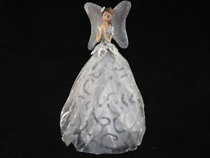 25cm Silver Christmas Angel / Fairy - Ornament Or Tree Topper Decoration