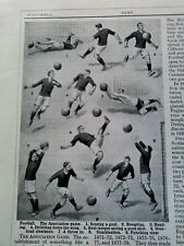 1920's Article Rules & facts Both Football & Rugby 6 Pages Health Educational