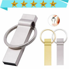 USB Stick 64GB-1M Flash Drive Metal Keychain Memory Stick Pendrive Silver USB2.0