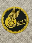 "Cargray Gold Porcelain Sign 10"" Diameter Excellent+++ Condition"