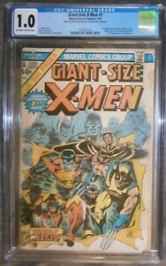 X-MEN Giant Size X-MEN #1 CGC 1.0 1st New X men team Marvel Comics 2nd Wolverine
