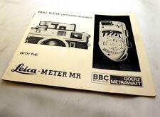 Leica Bull's Eye Meter MR  instructions Guide Manual English