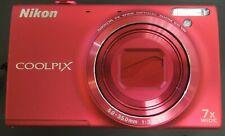 Nikon COOLPIX S6100 16.0MP Digital Camera - Red - 30 DAY WARRANTY 0618-96