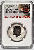 2018-S Silver REVERSE Proof Set KENNEDY 50C NGC PF 70 ER - Trolley Label -