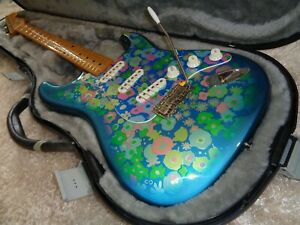 RARE 2002 Fender ST57-88BFL Floral blue Paisley Stratocaster guitar CIJ JAPAN