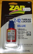ZAP Z-42 THREAD LOCKER BLUE PT-42 0.20 FL OZ(6 ML) MEDIUM STRENGTH NEW NIP