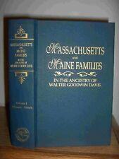 Massachusetts And Maine Families Volume 1 Genealogy Book