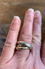 Heavy, Bold, Solid Gold Russian Ring Band. Rose, Yellow & White Gold. 9.0 Grams.